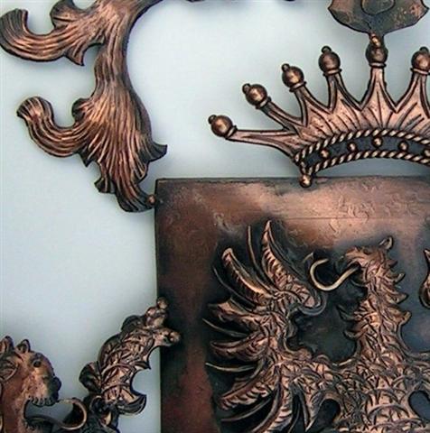 Kézimunkával készült Címerek, Cégérek, Cégtáblák, címerkészítés