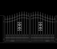 Kovácsoltvas kapu rajz terv