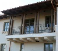 kültéri kovácsoltvas francia erkély korlát