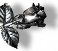 Rózsa - Antik ezüst hatású – ajándékötlet