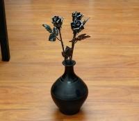 Kovácsoltvas Rózsa - Antik ezüst hatású – ajándékötlet