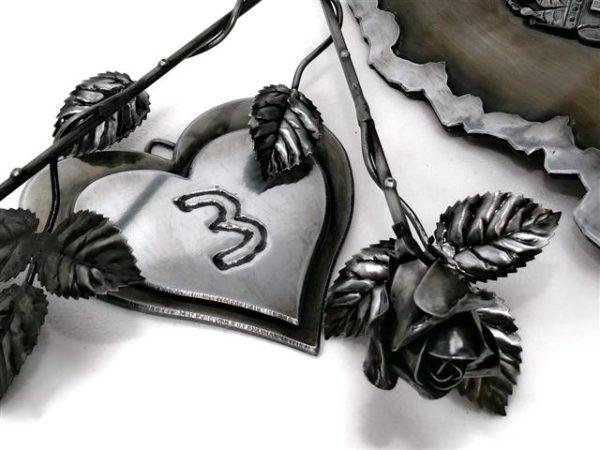 Valentin napra ajándékötlet - kovácsoltvas rózsa